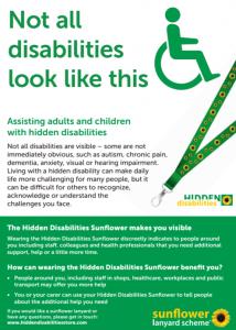 Hidden Disabilities Sunflower Lanyard