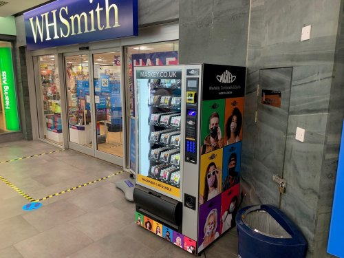 Clifton Down installs a Maskey face coverings vending machine